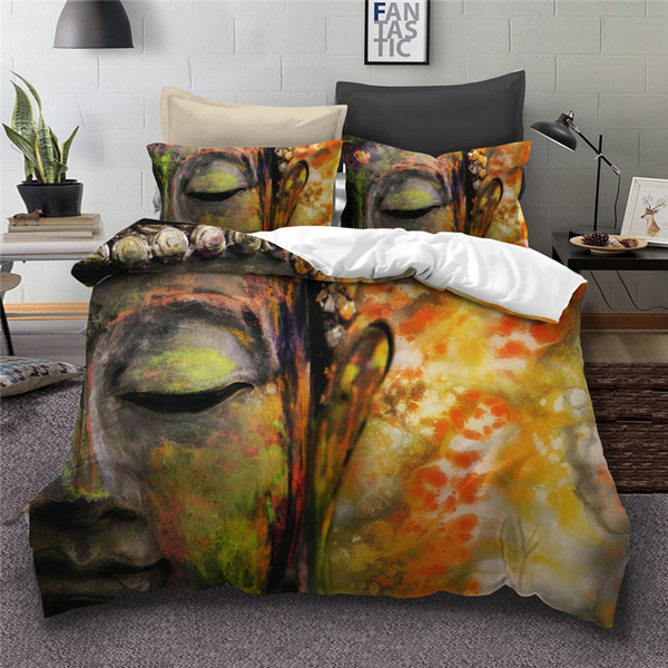 Big Buddha Bedding Sets queen size India Bohemian Duvet Cover Bed Set  Bedclothes bedline dropshipping