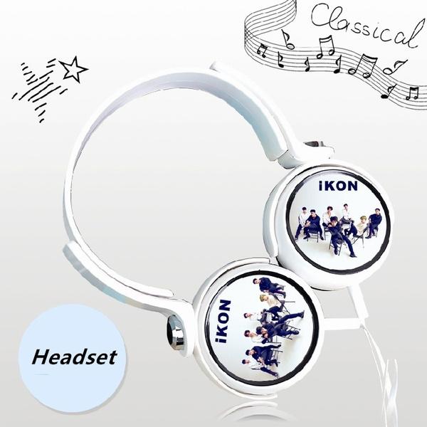 Kpop iKON New Album Fashion Headphones BI BOBBY Headset Earphone Universal