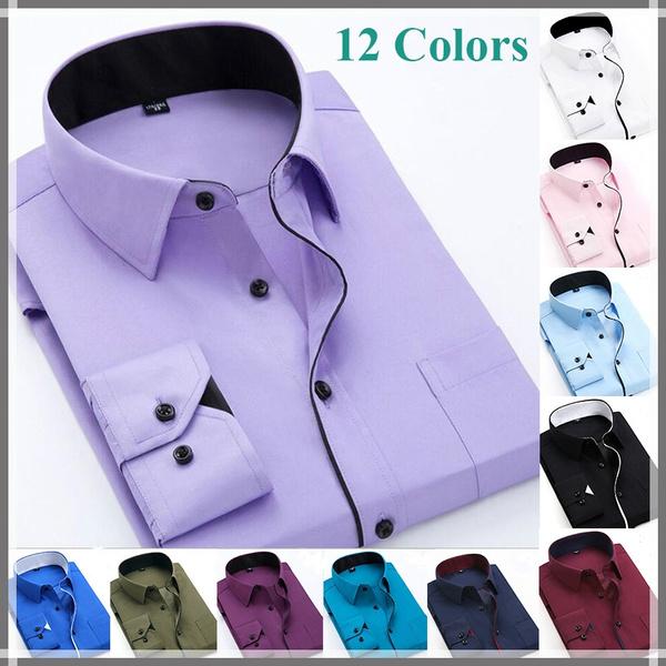 Turn-down Collar, casualmensshirt, Dress Shirt, Sleeve