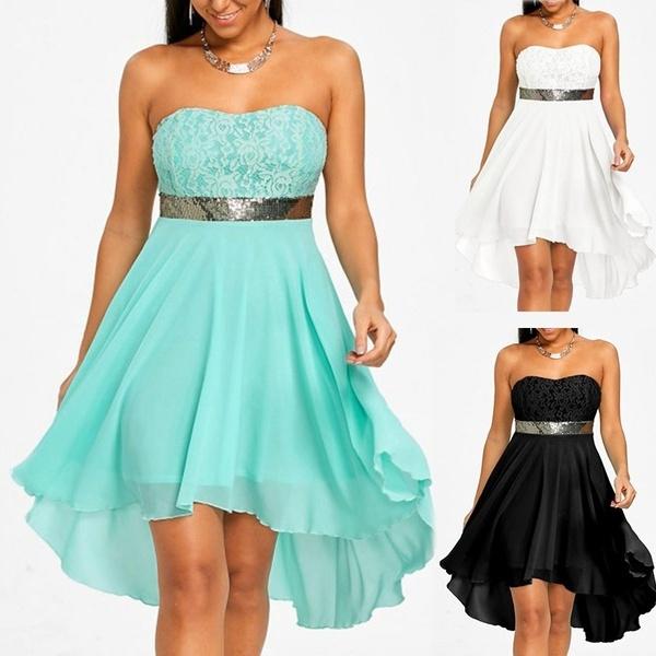 Mini, Strapless Dress, Plus Size, Lace
