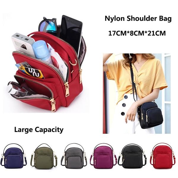 626aa7eb6a09 Women Fashion Waterproof Mini Crossbody Purse Small Nylon Travel Shoulder  Bag Cellphone Wallet Portable Cosmetic Bag Small Handbags with Multi Pocket
