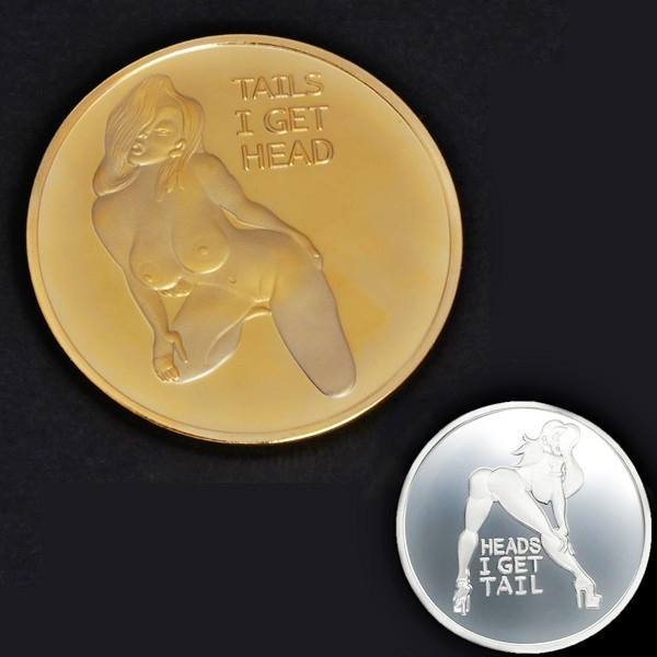 NEW Heads Tails Good Luck FUNNY Coins Silver Plated Coins Collection Arts  Gifts