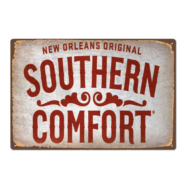 Southern Comfort WHISKEY PUB BAR  METAL TIN SIGN POSTER WALL PLAQUE