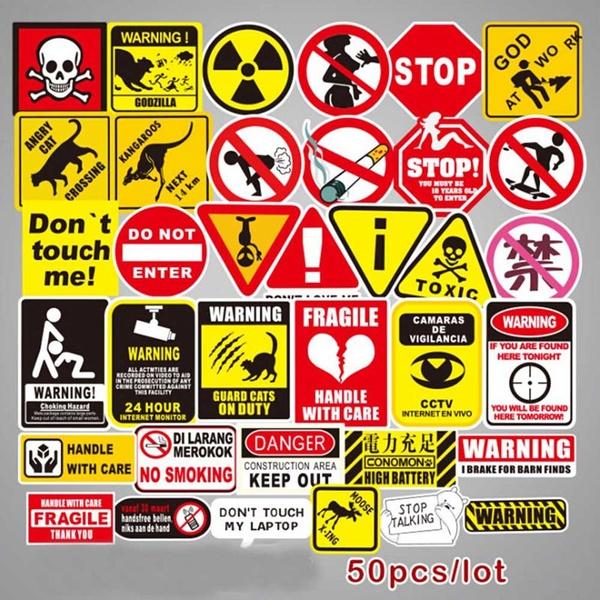Car Sticker, Decor, safetywarningsticker, Bicycle