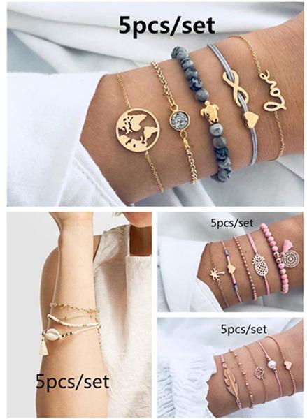 Fashion, conchbracelet, Jewelry, gold