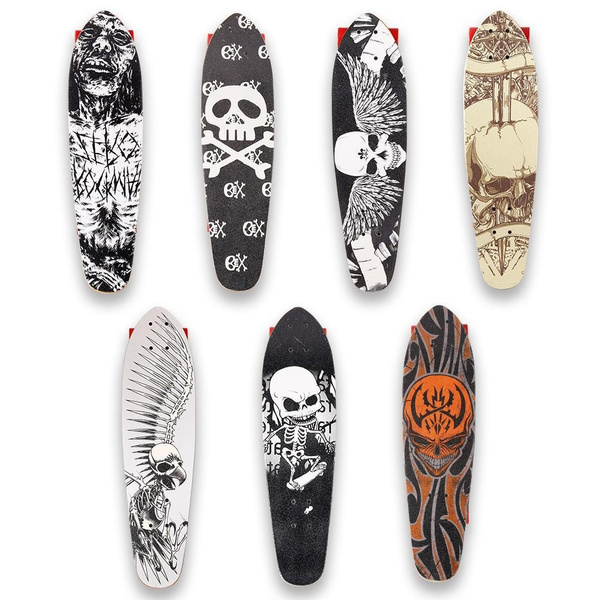 28 Inch Cruiser Style Skateboard Complete Outdoors Fun Wooden Deck Skate  Board