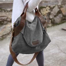 Shoulder Bags, largepocket, Totes, Canvas