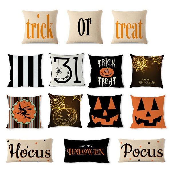 34-pattern-18*18inch-halloween-pillow-cases-linen-sofa-pumpkin-ghosts-cushion-cover-home-decor by wish