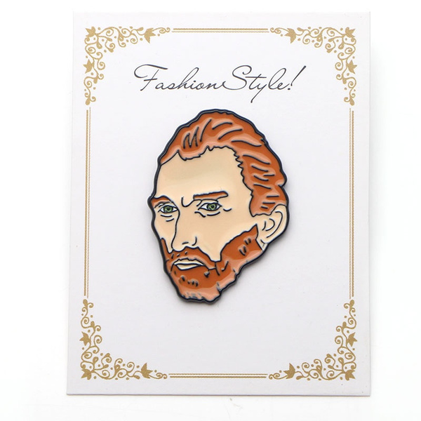 P2858 Van Gogh Metal Enamel Pins and Brooches for Women Men Lapel pin  backpack bags badge kids Gifts