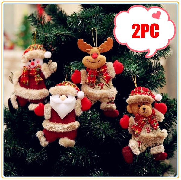 Black Friday Christmas Decorations.Christmas Halloween Black Friday Sales 2019 Merry Christmas Ornaments Gift Santa Claus Bear Snowman Reindeer Toy Doll Hang Decorations