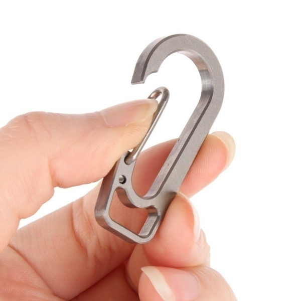 Outdoor Titanium alloy Carabiner Clip Snap Hook Keychain Keyring Ultra-light New