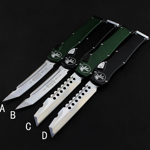 Top Switchblade Flick OTF Knife Automatic Knife Aviation Aluminum handle  Spring Assisted Knives camping hunting hand tools