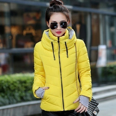 hooded, Winter, cottonpaddedjacket, winter coat
