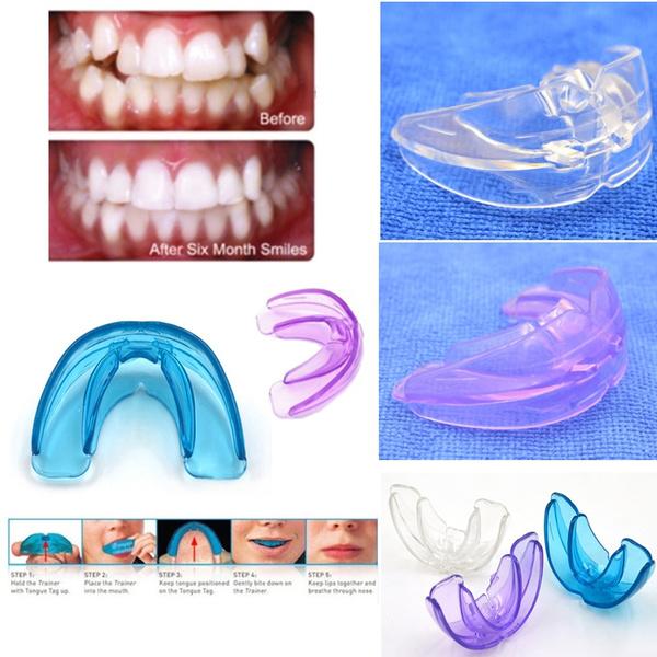 4 Colors Silicone Teeth Braces Teens & Adult Retainer Orthodontic Teeth  Grinding Straightener Tools