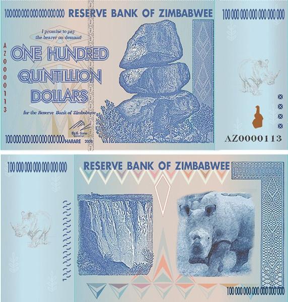 Zimbabwe 100 Trillion Dollars Az 2008