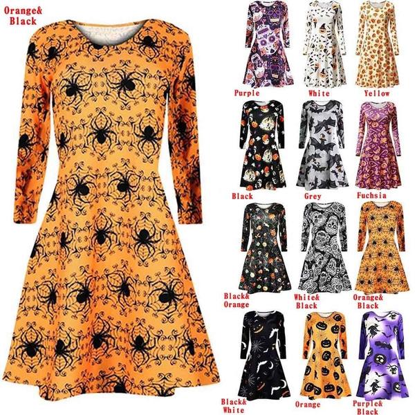 Swing dress, Plus Size, skull, Sleeve