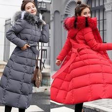 Jacket, Cotton, hooded, fur