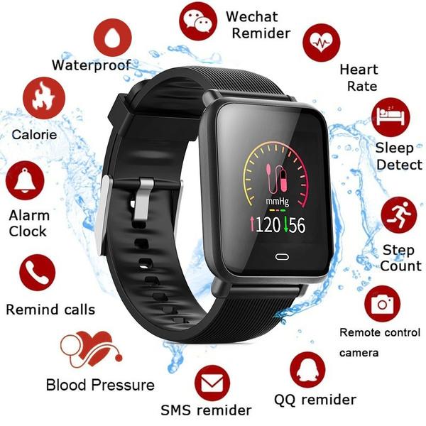 Q9 Smart Sports Watch Bracelet TFT High-definition Color Blood  Pressure/oxygen Heart Rate Tracker Monitor Smartwatch Business Pedometer  Sport Heart