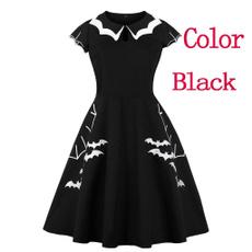 Goth, Fashion, pleated dress, Embroidery