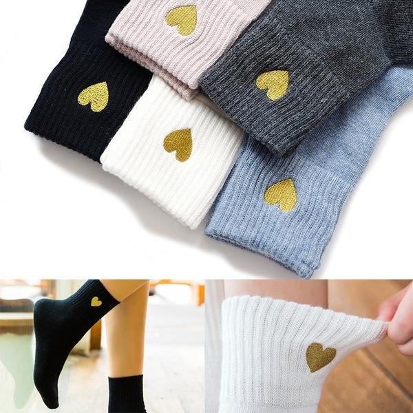 Kawaii, cute, Heart Shape, Cotton Socks