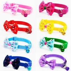 bowknot, Polyester, Adjustable, Dog Collar