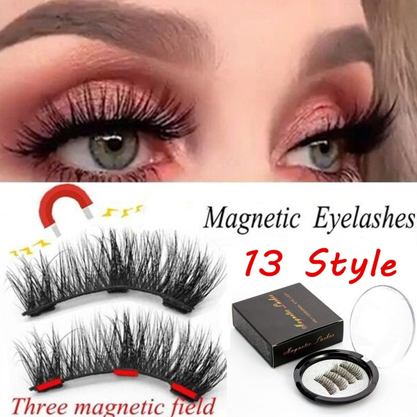909b5d38c44 SKONHED 4 Pcs Thick Triple Magnets Handmade Magnetic Lashes Extension Tools  False Eyelashes Full Coverage | Wish