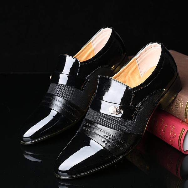 Top Brand Classical Men Dress Flat Shoes Luxury Breathable Leather Shoes Men's Business Oxfords Casual Shoe Male British Pointed Toe Formal Shoes