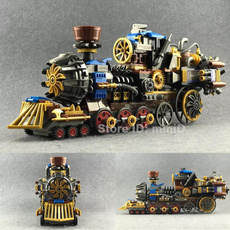 Gifts, Steampunk, Train, buildingblock