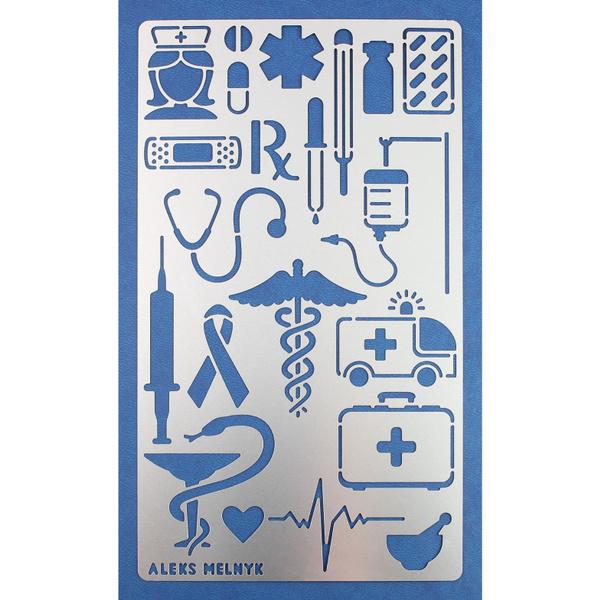 Aleks Melnyk 11 Bullet Journal Stencil Metal Medicine Planner Notebook  Diary DIY Bujo Scrapbooking Template