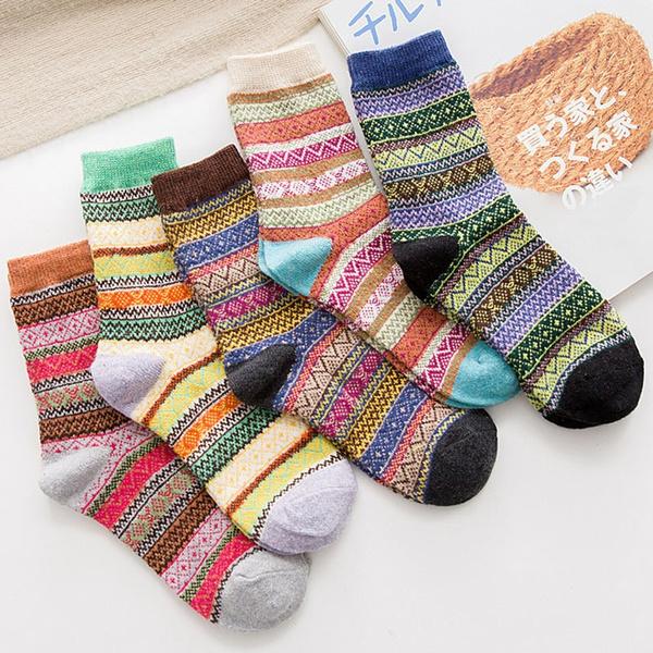 bohemia, Cotton Socks, Cotton, woolsock