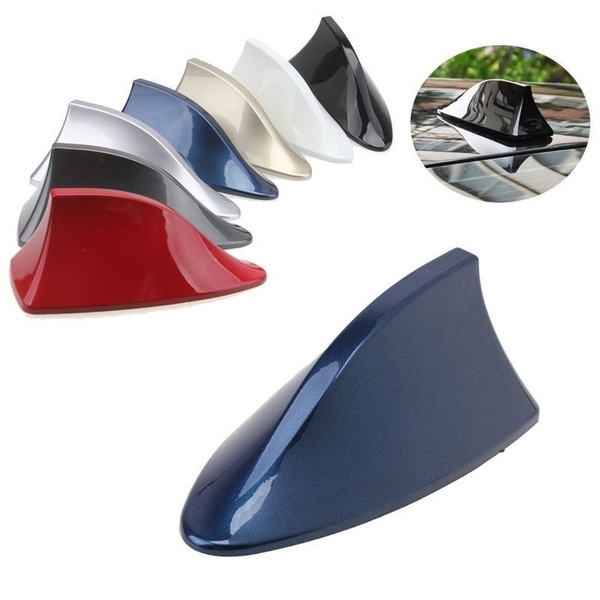 Car Auto Shark Fin Roof Antenna Radio FM//AM Signal Decorate Aerial Universal ABS