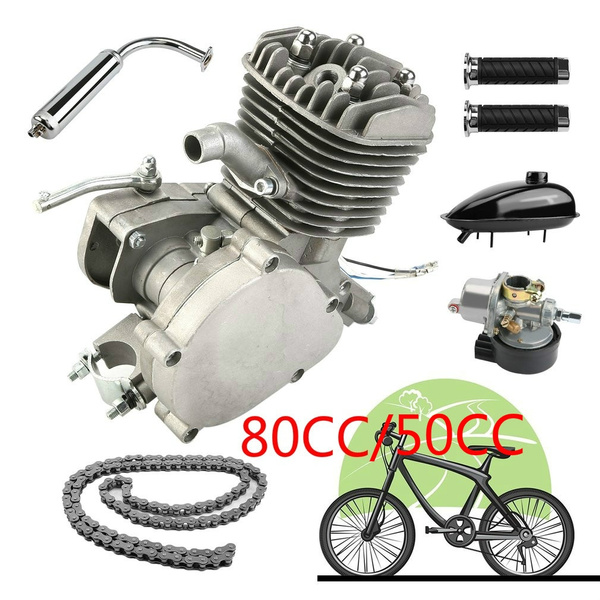80/50CC 2-Stroke Engine Motor Start Starter Pockets Mini Bike Scooter  Engine Kit