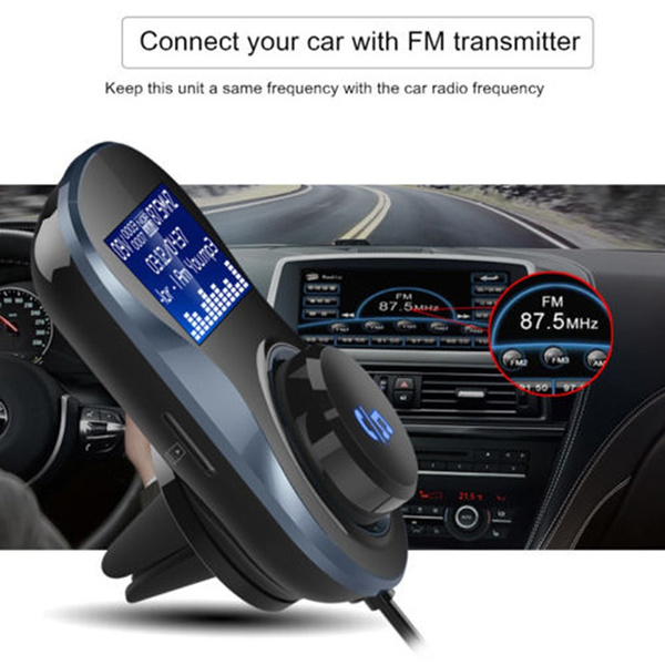Wireless Bluetooth 4.1+EDR Car MP3 Player Kit Hands-Free Dual USB FM Transmitter