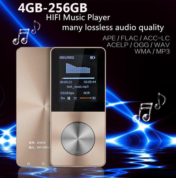 4GB-256GB Metal Case MP3 MP4 Player HIFI Lossess Music Player Portable  Sports Walkman Voice Recorder FM Radio with Speaker Player