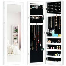 Door, mirroredjewelrycabinet, whitejewelrycabinet, Jewelry Organizer