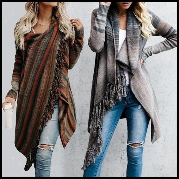 blouse, irregularsweater, cardigan, Tops & Blouses