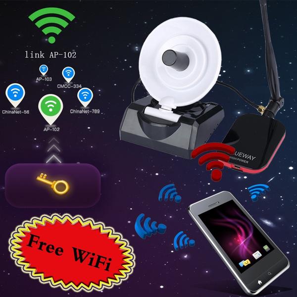Durable 200m Long Range Password Cracking Dual Antenna USB WiFi Receiver  Adapter Decoder