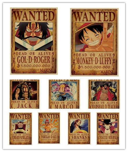 wanted!, onepieceanime, Wall Posters, Wall Decal