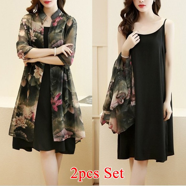 Vintage, Plus Size, chiffon, Dress