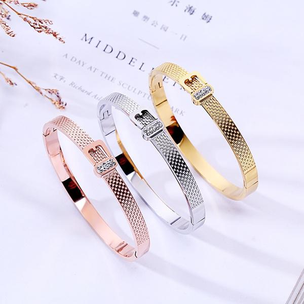 New Luxury Fashion Personality Geometric Bracelet Simple Diamond