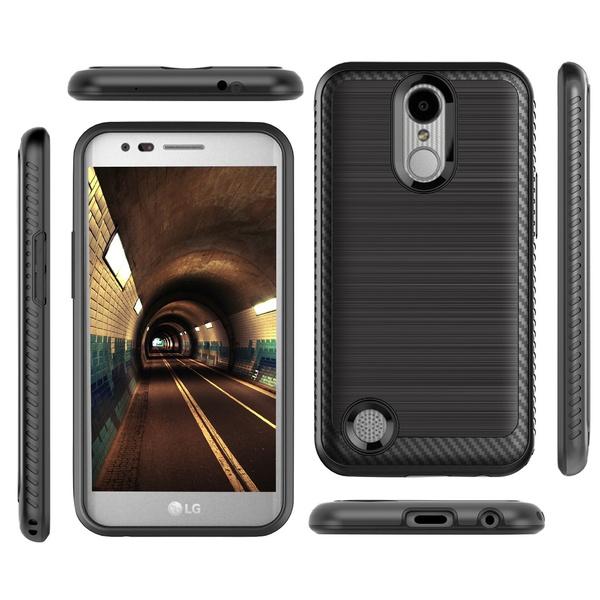 Hybrid Rugged Slim Hard Cover For Samsung Galaxy J3 2017 2018 / LG Aristo /  Phoenix 3 / Fortune / Stylo 4 / Motorola E4 / E4 Plus / Coolpad T-Mobile