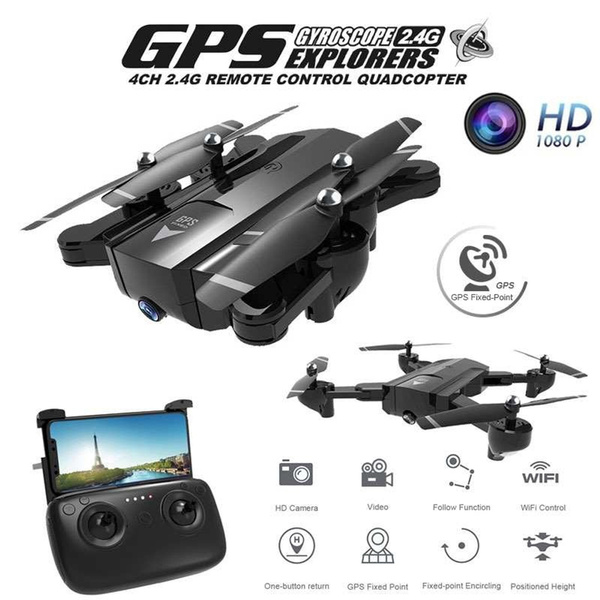 Newest SG900 APP Control Rc Drone Folding GPS Smart Follow + HD FPV  Wide-Angle Camera + 360° Rotation + V-Sign + Gesture Video + Real-Time
