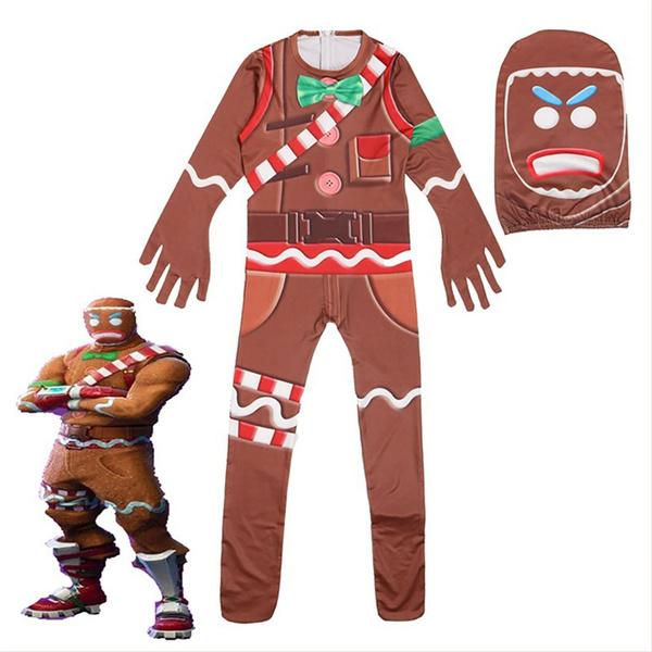 children costume fortnite gingerbread jumpsuit cosplay costume for kids wish - gingerbread costume fortnite