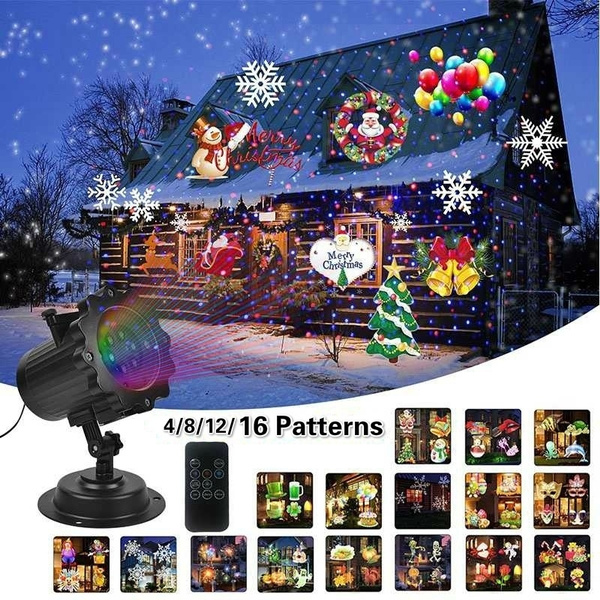16 Patterns Moving LED Laser Projector Light Waterproof Xmas Party Garden Decor