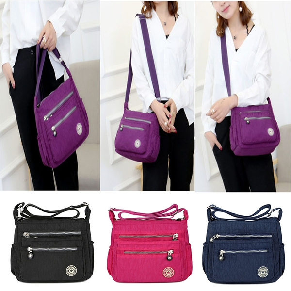96b4a3693bbe Popular Women Messenger Bags Nylon Waterproof Crossbody Shoulder Bag Casual  Travel Handbags