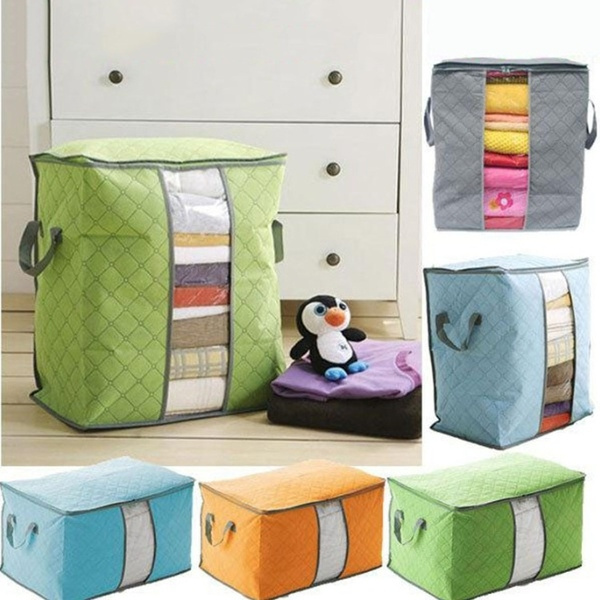 Quilts Blankets Pillows Clothing Sorting Storage Organizer Bag Box container GY