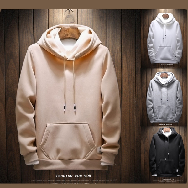 Fashion, Winter, Long sleeved, solidcolorhoodie