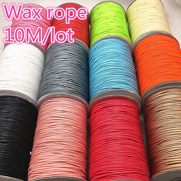 1mm 50m/roll Waxed Thread Cotton Cord String Strap Hand Stitching Thread  for Leather Handicraft Tool Material Accessories Household Supplies