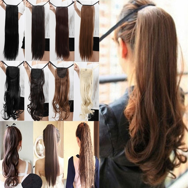 ponytailextension, brown, human hair, Beauty