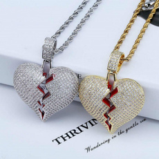 goldplated, Heart, Personalized necklace, necklaces for men
